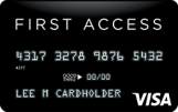 The Bank of Missouri: {First Access Visa® Solid Black Credit Card}
